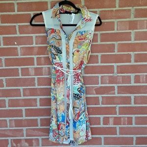 Retro Ark & Co. Boho shift dress size small